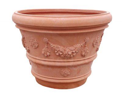 gulaty terakota kvetinac ornamenty