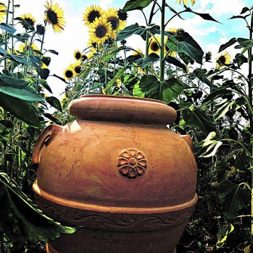 kvetinac terakota s motivom