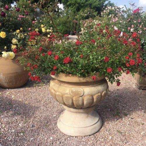 dizajnový terakotový kvetináč