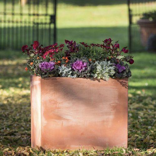 štvorec terakota kvetináč